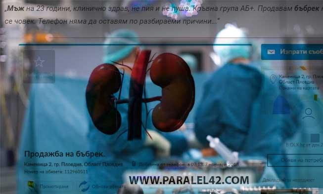 черен пазар бъбрек продавам купувам трансплантация 2019