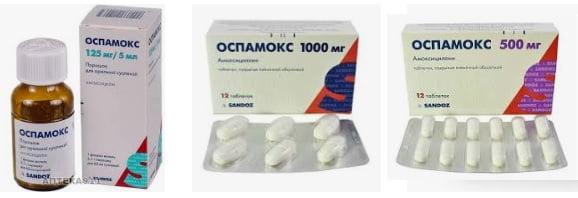 Оспамокс, антибиотик амоксицилин