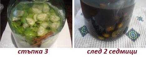 ликьор от зелени орехчета с канела