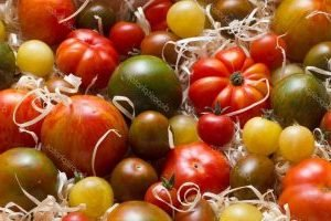 съхранение на домати в стърготини