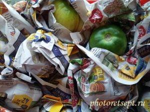 съхранение на домати във вестник
