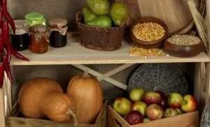 съхранение на домати и други зеленчуци като тикви и ябълки