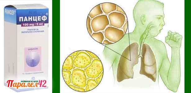 панцеф при пневмонии