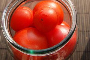 съхранение на домати със спирт