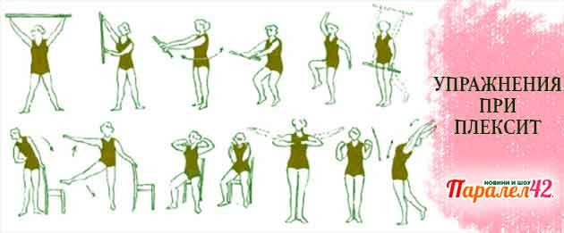 Упражнения при плексит на гърба, рамото или плешката.