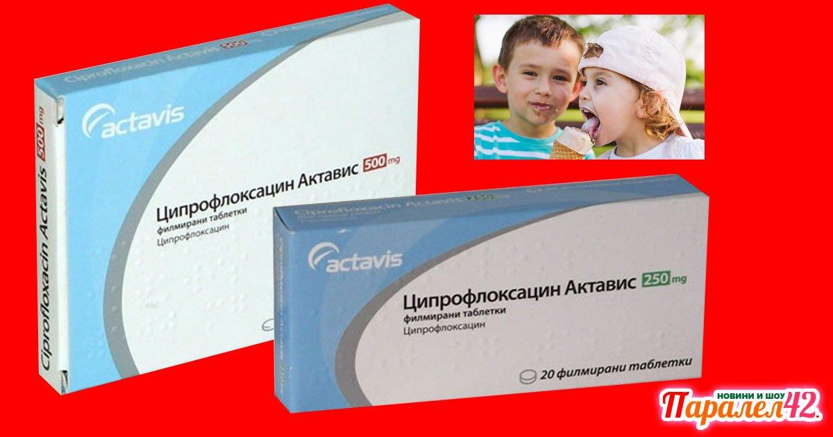 Ципрофлоксацин антибиотик за деца